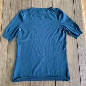 Calvin Klein teal knit top w/boat neck size XS